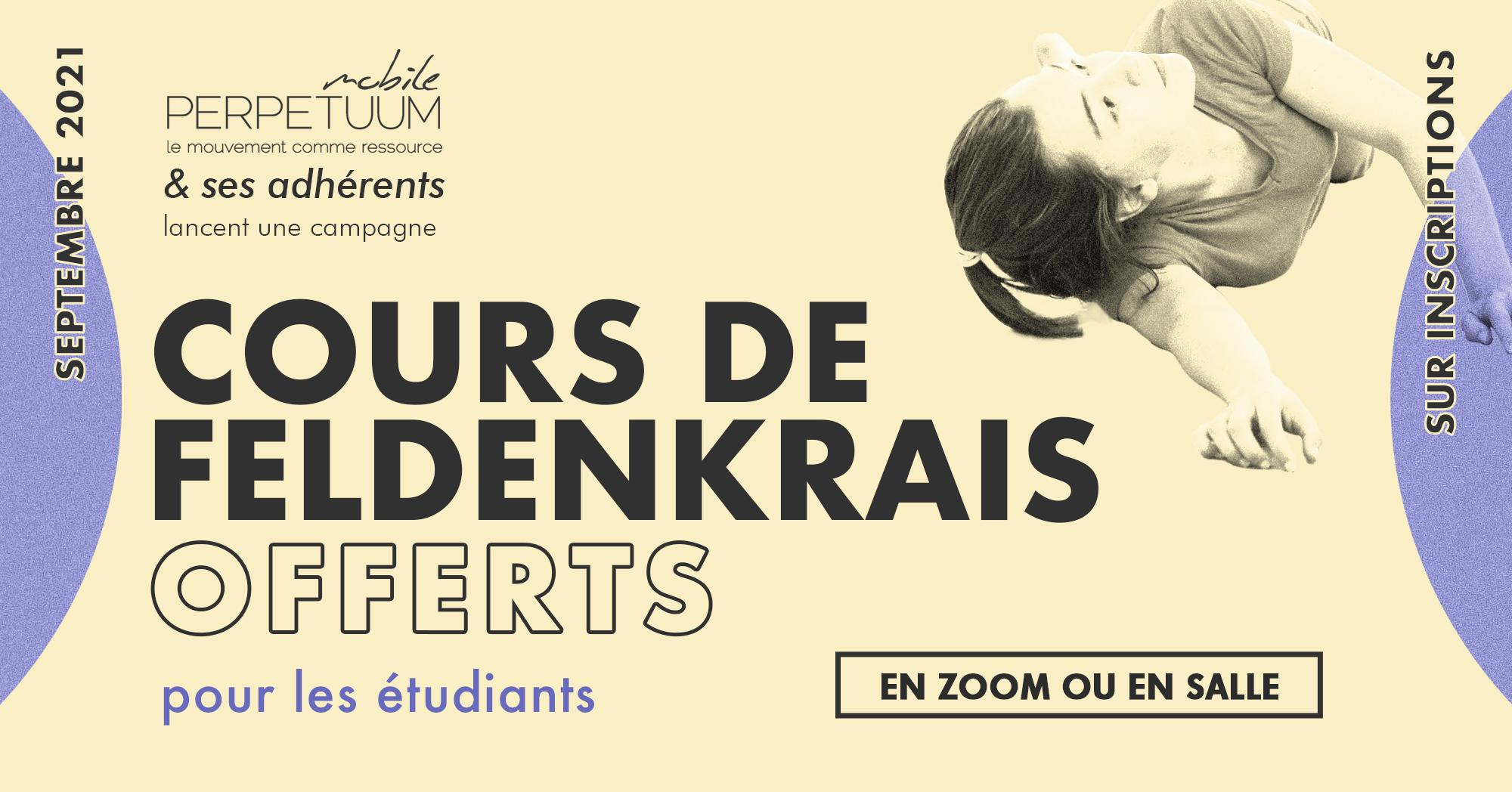 Cours gratuit Etudiant Méthode Feldenkrais